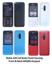 Nokia 220 Full Body Panel Housing Front & Back+Middle+keypad