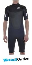 Billabong Foil 2/2mm CHEST ZIP GBS SHORTY Wetsuit in Graphite/White J42M09