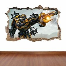 Transformers  hole in the wall full colour sticker decal kids boys girls poster