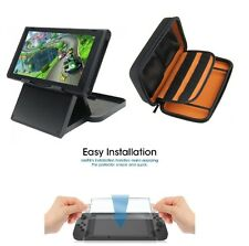 Pouch, Glass and Play & Charge Stand with Adjustable Height for Nintendo Switch