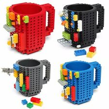 DIY Creative Brick Lego Puzzle Mug Coffee Cup Build-on Building Block Tea Cup uk