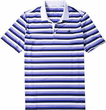Adidas Golf Mens Climacool Classic Stripe Polo Shirt