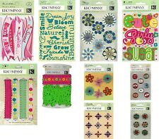 Various K & Company Embellishments Stickers Brads Ribbons *HUGE DISCOUNTS* N XS