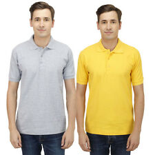 Haltung Slim Fit Grey Yellow T-shirts Combo Of 2 (HAL-2CM-M-TSHIRT-GREY-YELLOW)