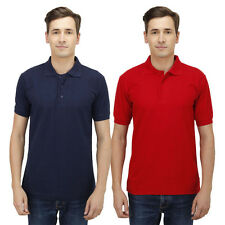 Haltung Men's Slim Fit Navy Red T-shirts Combo Of 2 (HAL-2CM-M-TSHIRT-NAVY-RED)