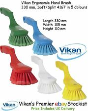 Vikan Ergonomic Hand Brush, 330 mm Soft Split Bristles Wash Sweep Dust Home Car