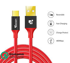 USB Type C to USB A Cable Nylon Fast Charging Type-C 3.1 Data Sync Charger Cable