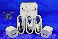 Lightning USB Cable Cord / Earpod / Wall Charger For OEM iPhone 5 5S 6 6S 7 Plus