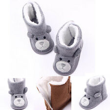 Baby Kids Cute Bear Toddler Infant Girl Snow Boots Soft Sole baby Crib Shoes