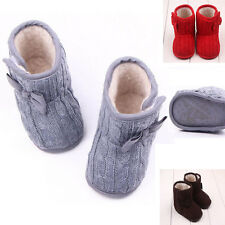 Baby Girls Boys Soft Warm Snow Boots Toddler Infant Prewalker Crib Shoes 0-12M