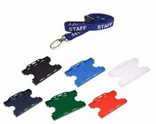 Blue STAFF Neck Strap Lanyard With Double side ID Card Pass Badge Holder
