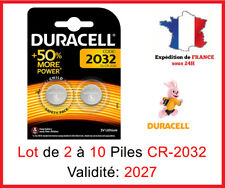 Set de 1 à 10 Pile CR-2032 / DL-2032 DURACELL botón Litio 3V DLC 2025
