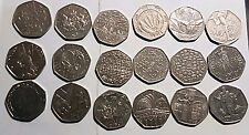 Cheap 50p Coins; Various Commemorative Circulated Fifty Pence Coins