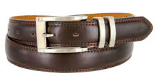 "The Cindy - Stylish Designer Leather Dress Belt, 1-1/8"" Wide *Brown*"