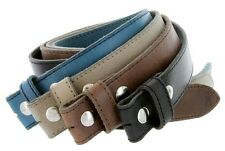 "Italian Leather Dress Casual Golf Belt Strap, Made in Italy 1-1/2"" Wide"