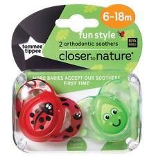 Tommee Tippee Fun Style Closer To Nature Two Orthodontic Soothers 6-18m - 3 Type