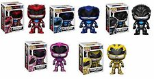 Saban Movie Power Rangers Pop! Funko Vinyl Figures New Black Pink Blue Red