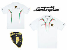 POLO BLANCO LAMBORGHINI SQUADRA CORSE HOMBRE - WHITE POLO MEN