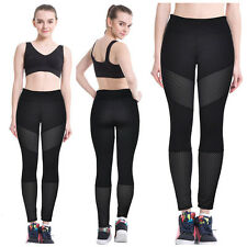 Women Hollow Stretch Yoga Fitness Leggings Running Gym Sports Pants Trousers