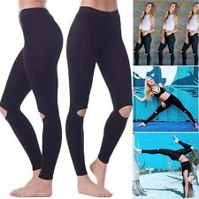 Women Sports Gym Yoga Workout Hollow Out Fitness Lounge Athletic Pants Leggings