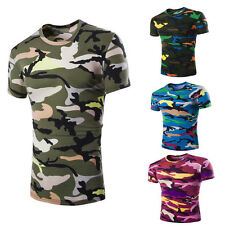 Men Summer Camouflage Pullover Polo Shirts Blouse Mens Short Sleeve T-shirt