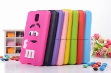 INew 3D Design Silicon Back Case Cover For Samsung Galaxy Note 3 N9000  & Note 4