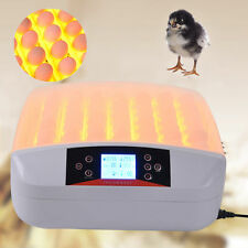 56 Eggs Digital Fully Automatic Incubator Turner Poultry Chicken Duck Bird Top