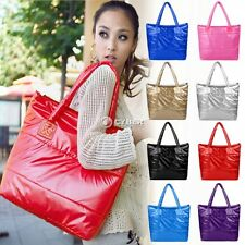 Fashion Women Lady Winter Space Bale Cotton Tote Shoulder Bag Handbag Quilted