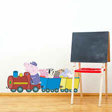 Peppa and Friends train wall sticker | Official Peppa Pig wall stickers