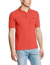 Polo Fred Perry Shirt S Men Tipped Twin Sleeve Short Pique Nwt Blue M Size Mens