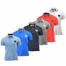 Mens Polo Shirt Santa Monica Designers Horner Casual Polo Shirt Tee Top T-Shirt