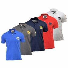 Mens Polo Shirt Santa Monica Designers Protest Casual Polo Shirt Tee Top T-Shirt