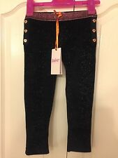 Ted Baker Girls Velvet Sparkle Leggings With Sizes. BNWT. Designer