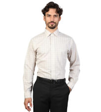 Brooks Brothers - Camisa slim fit color beige con cuadros Hombre chico