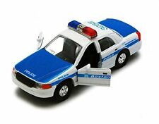 Boston Police Car, Blue & White - Showcasts 9985BS - 5 Inch Scale Diecast Model