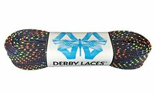 Rainbow 60 Inch Waxed Skate Lace - Derby Laces for Roller Derby, Hockey and Ice