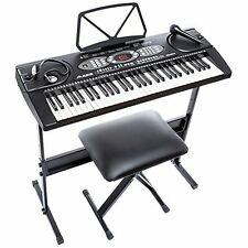 Alesis Melody 61 Beginner Bundle | 61-Key Portable Keyboard with Stand, Bench,