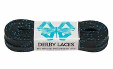 Black 108 Inch Waxed Skate Lace - Derby Laces for Roller Derby, Hockey and Ice