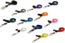 ID Neck Strap Lanyard Metal Clip ID Card Pass Badge Holder CHOOSE COLOUR & PACK