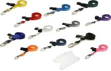 ID Neck Strap Lanyard Metal Clip FREE ID Card Holder For ID Pass Badge Holder