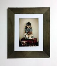 Photo Frame 30x40 cm With White Mount for A4-20x30cm (8x12'') brown, white, pine