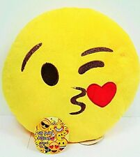 Emoji 32cm Silly Smiley pillows Emoticon Yellow Round Cushion Pillow Stuffed Pl