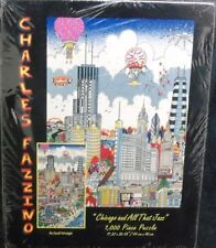 CHARLES FAZZINO CHICAGO And All That Jazz Glitter PUZZLE 1000 Piece Puzzle (Siz