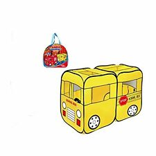 Mallya Large Yellow School Bus Truck Pop-Up Play Tent - Bus with Side Door Entr