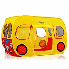 Dimple Children's Colorful Pop Up Play Tent in Yellow School Bus Design with Me