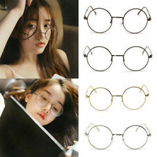 Classic Unisex Metal Frame Clear Round Lens Glasses Nerd Spectacles Eyeglass