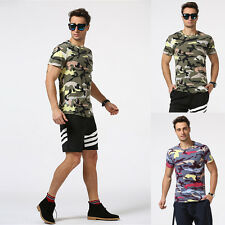Camo Military T-Shirt Men Camouflage Army Cool Tee Shirts O Neck Short Sleeve