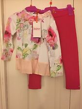 Ted Baker Girls Floral tunic and leggings set with sizes. BNWT. Designer