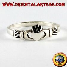 Anello in argento 925 ‰   Claddagh Irlandese