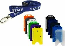 STAFF Neck Strap Lanyard With Colour Choice ID Card Pass Badge Holder - FREEPOST